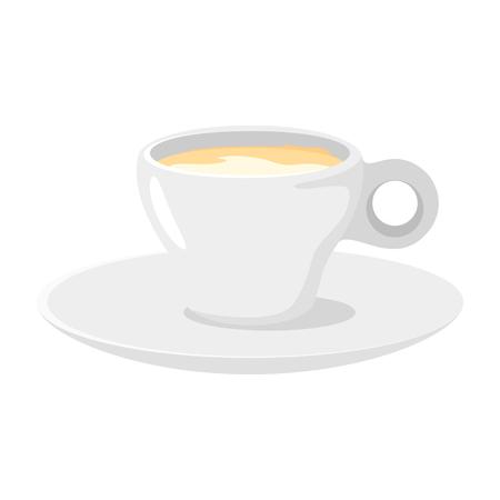 Coffee shop espresso cup icon for menu design. Vector illustration, isolated on white background. Archivio Fotografico - 127141675