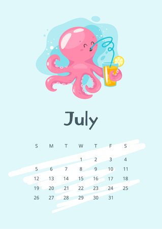 July 2020 calendar page.