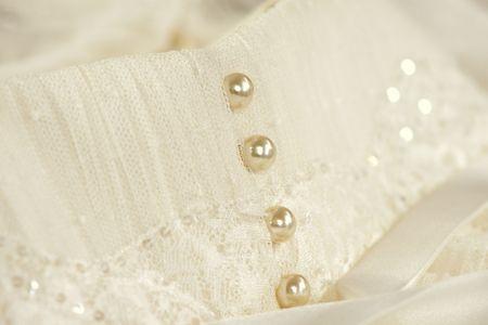 Buttons Ivory Dress