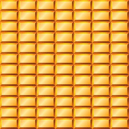 bullion: Seamless texture with gold bullion. Vector illustration