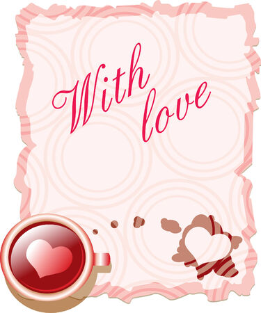 Valentine s card - with love Vector