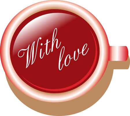 Coffee cup - with love Vector