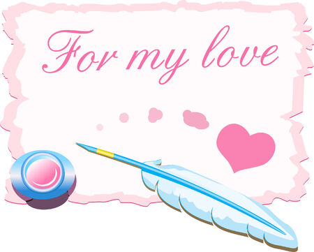 Valentine s card - for my love Vector