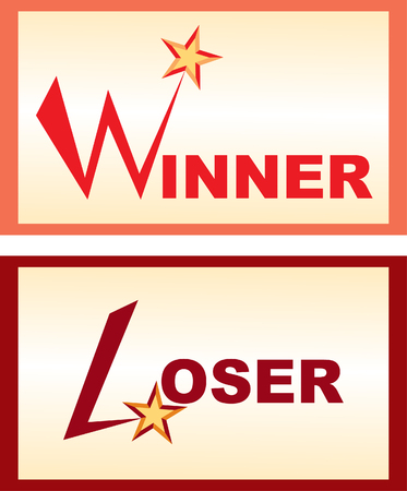 loser: Winner and loser Illustration