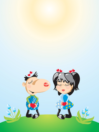 Sun love background Vector