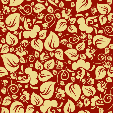 Gold floral seamless pattern Stock Vector - 2623022