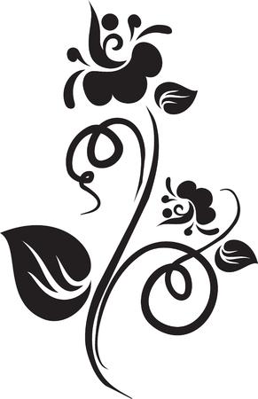tatouage art: Floral tatouage Illustration