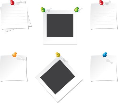 instant message: Office fix paper Illustration
