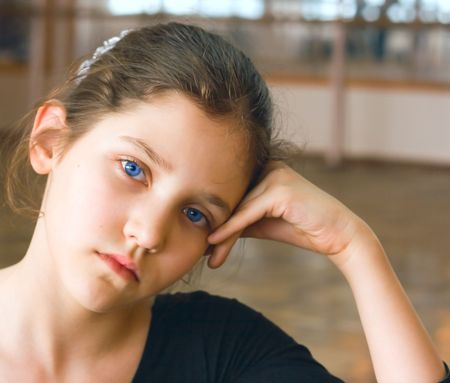 Portrait of a young teen gymnastic girl Stock Photo - 2719319
