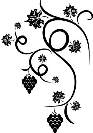 Floral grape - design tattoo Illustration