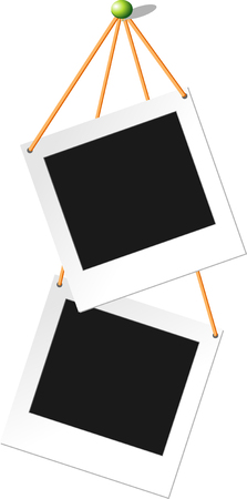 polaroid: Element Design pour copie-espace Fix tag Polaroid carte