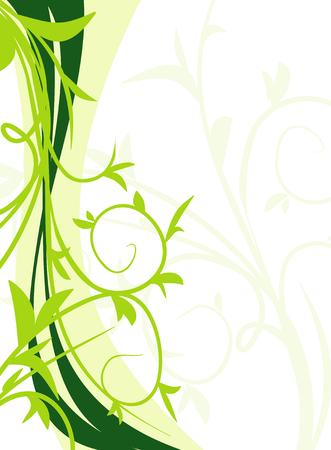 Green floral background Illustration