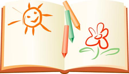 book logo: Resto del libro infantil de verano