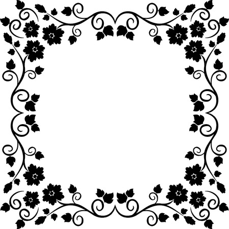 floral swirls: Design frame