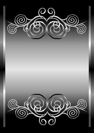 decoratio: Abstract silver  Illustration