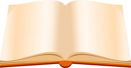 book logo: Abrir el libro de dibujos animados Vectores
