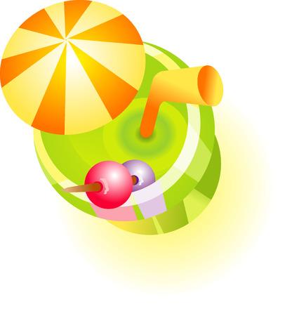 Summer cocktail illustration Illustration