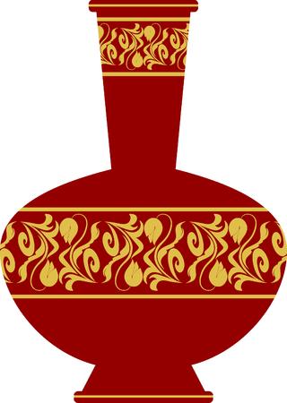 antique vase: Antique vase cartoon