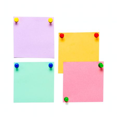 paper pin: Office Color paper pin on white background Stock Photo