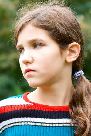 Portrait teen girl outdoor photo