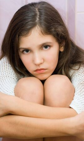 Portrait sad gir for your design Stock Photo - 3930558