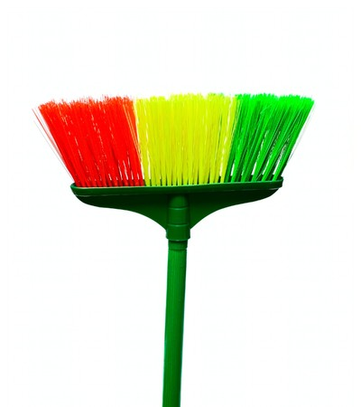 Color Broom isolated on white