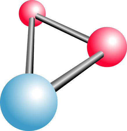 Molecule H2O cartoon Illustration