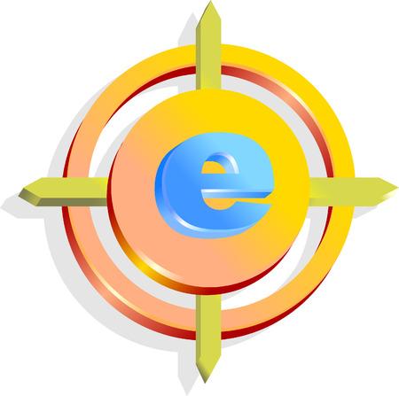 inet symbol: Internet icon Illustration