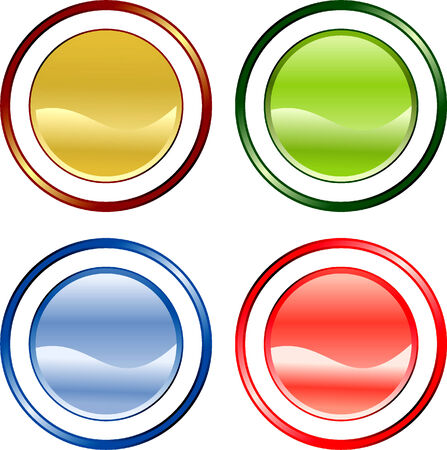 Color buttons for your desifn Vector