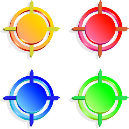 Color buttons for your desifn Stock Vector - 4172105
