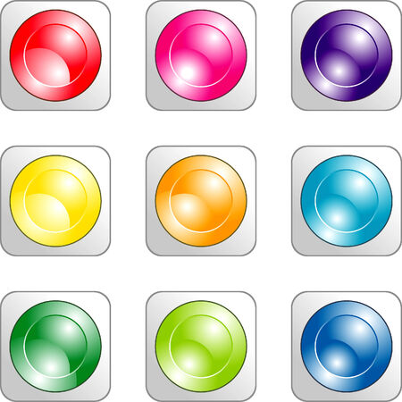 Set of Color buttons for your desifn Stock Vector - 4172111