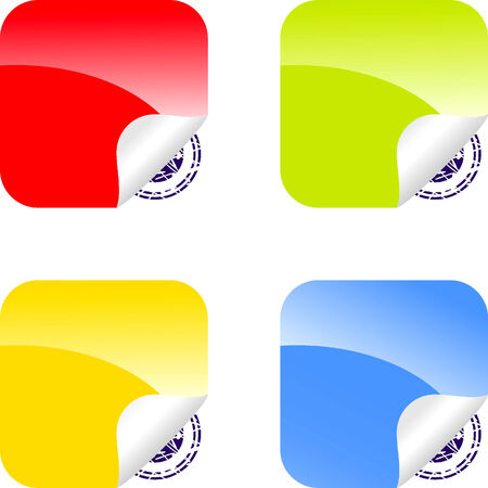 Set of Color labels for your design Stock Vector - 4172106
