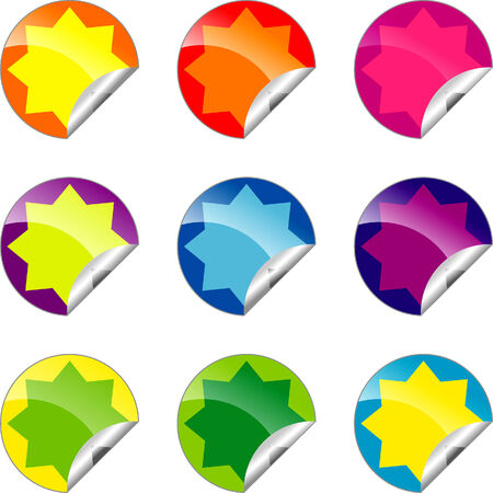 Set of Color labels for your design