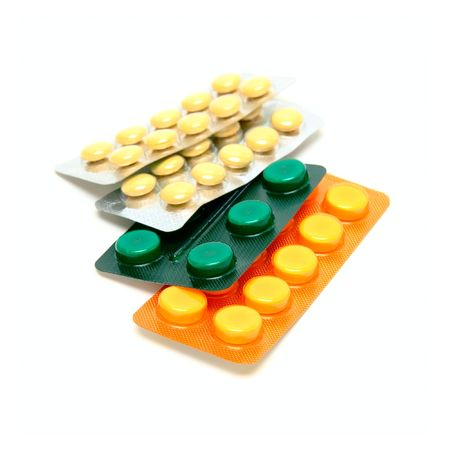 Medicine pills isolated on white
