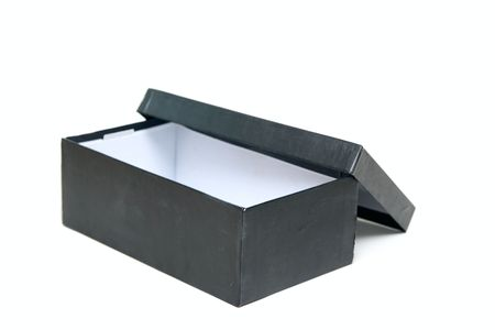 Open Empty box isolated on white photo