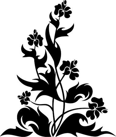Design floral tattoo simbol for your design Vector