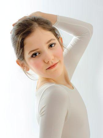 Portrait of cute teen girl photo