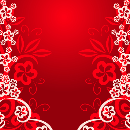 Abstract floral background for your design Vector