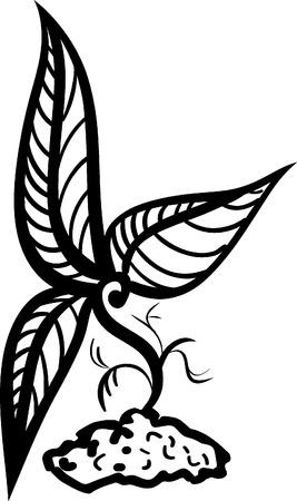 enten: Kleine ontwerp ent tatoeage