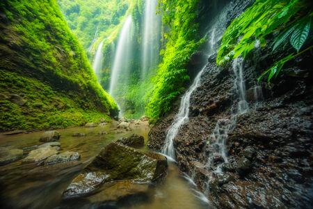 Madakaripura waterval, reizen Indonesië Azië Stockfoto