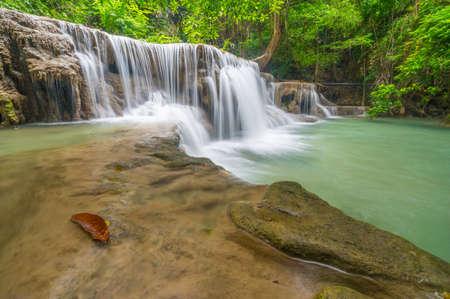khamin: second floor of Huai Mae Khamin Waterfall, Kanchanaburi Thailand