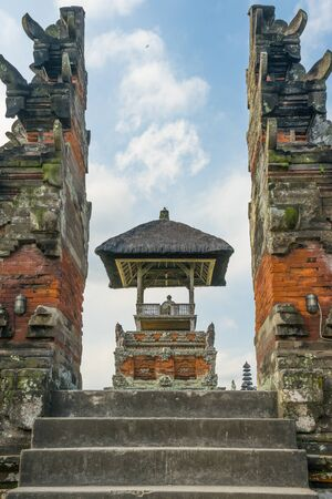 taman: Taman Ayun temple gate, Bali Indonesia Stock Photo