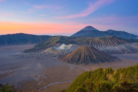 Beautiful morning at Bromo mountain, Indonesia