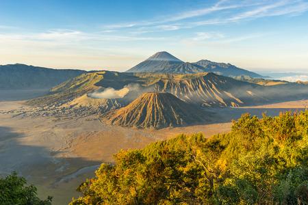 Beautiful sunrise at Bromo mountain, Indonesia