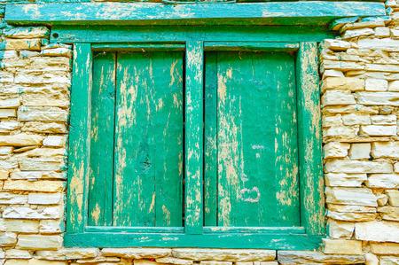 nepali: Nepali green window, Nepal Asia