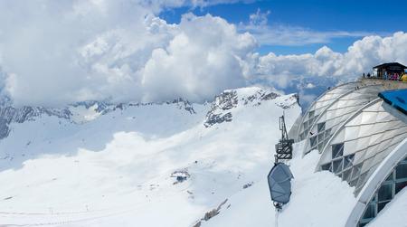 skie: Zugspitze skie mountain, Germany Europe Editorial