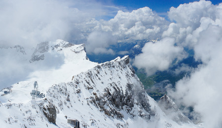 zugspitze mountain: Panoramic view of Zugspitze mountain, Germany
