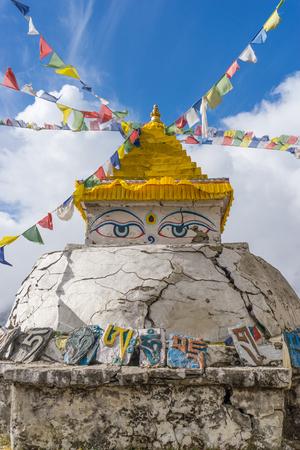 everest: Namche Bazaar stupa, Everest region, Nepal