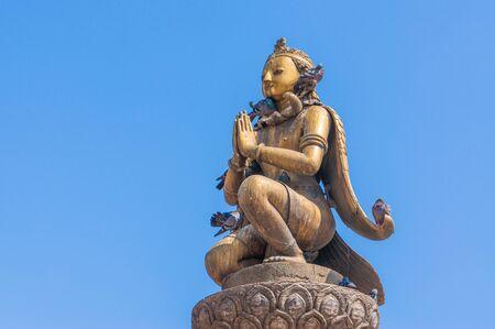 garuda: Garuda statue at Patan dubar square, Kathmandu, Nepal Stock Photo