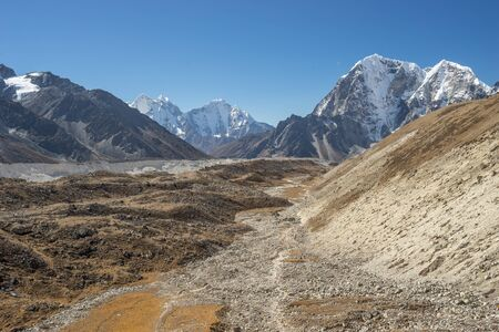 everest: Trekking route to Everest base camp, Nepal